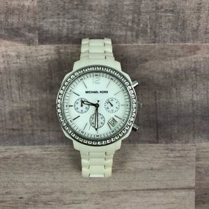 Accessories - White rhinestone MICHAEL KORS watch
